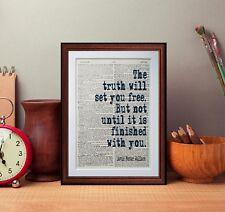 David Foster Wallace cita Diccionario página Art Print Lectura Regalo literario