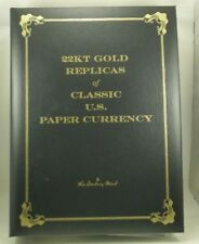 Danbury Mint 22KT Gold Replicas of U.S. Paper Currency (25 Pages 50 Replicas)