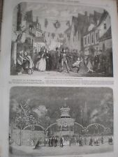 Restoration Day Upton-on-Severn & Cremorne Gardens Crystal pavilion London 1857