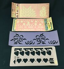 LOT OF 4 REUSABLE BORDER WALL STENCILS / HOME DECOR / LONE STAR CHERRIES + MORE