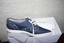 NWT Marc Jacobs Blue  Jeans Flat Women Shoes Sneakers Size:38 Made in Italy