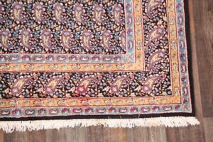 SEMI-ANTIQUE PAISLEY TRADITIONAL FLORAL KIRMAN AREA RUG ORIENTAL HAND-MADE 6'X9'