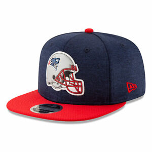 New England Patriots NFL THE HELMET LOGO 9Fifty Snapback Hat - Navy/Red