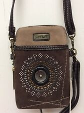 Chala Starburst Cell Phone Brown Crossbody Bag Small Convertible Purse New