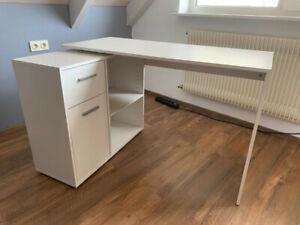 Jugendzimmer Schreibtisch-Winkelkombination - Weiß