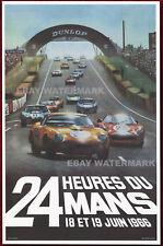 1966 24 Heures Du Mans Ferrari 250 GTO Vintage Advertising Race Poster 11 x 17