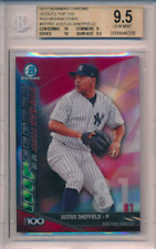 2017 Bowman Chrome Top 100 Red Refractor /5 Justus Sheffield RC BGS 9.5 10 Subs