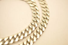 """Heavy Solid 925 Sterling Silver Curb Chain Necklace. 186-192 grams, 51 cm, 20"""""""
