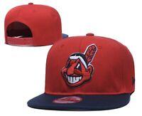 New Era 9FIFTY Adult Cleveland Indians Red MLB Retro Adjustable Snapback Hat 950