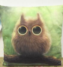 1x simple painting owl home decoration sofa cushion sleeve pillow case 18X18 '