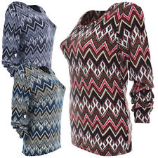 Taillenlange Langarm Damenblusen, - tops & -shirts aus Baumwollmischung