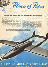 1943 WW2 AD McDONNELL Aircraft , Planes of the Future Rear Engine fighter 050817