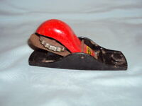 """6"""" Stanley CF 1 Wood Plane/Planer Made Engl. Collectible Black Base Red Handle"""