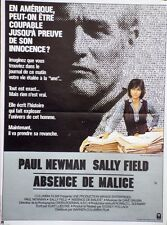 """ABSENCE DE MALICE (ABSENCE OF MALICE)"" Affiche originale (Paul NEWMAN)"