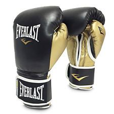 Everlast 12oz. Powerlock Training Boxing Gloves in Black/Gold