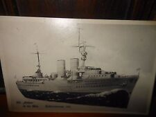 ANTIQUE GERMAN POSTCARD OF A GERMAN WARSHIP PRELUDE TO THE BISMARK DATED 1920