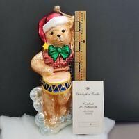 #6/115 CHRISTOPHER RADKO Marshall Fields CHRISTMAS ORNAMENT DRUMMING TEDDY BEAR