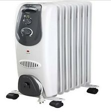 Electric Radiator Heater w/ Adjustable Thermostat Portable Quiet Space Heater
