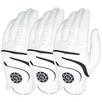 Ben Hogan Medallion Men's Golf Gloves - White - 3-PACK - Pick Size