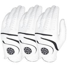 Ben Hogan Medallion Men's Golf Gloves - White - 3-PACK - Pick Size