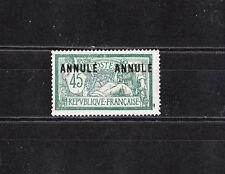 timbre France  Merson  45c vert et bleu  surchargé Annulé   NUM: 145 CI 2  *