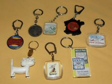 lot 8 porte clé ancien vintage pc 60's 70's renault unimel asterix picon holtz