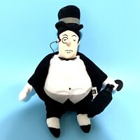 "Vintage 1999 Warner Bros Studio Store Batman The Penguin Plush Bean Doll  10"""