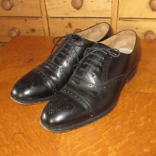 Savile Row by Barker - Men's Brogues Shoes - Black Leather - Size 8.5 Width G