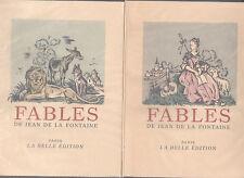 FABLES DE JEAN DE LA FONTAINE La BELLE EDITION 2 volumes coffret Numéroté