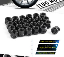 24 Steel Black 14X1.5 Open End Lug Nuts Acorn for Cadillac Escalade Ford F150