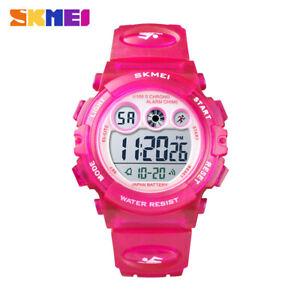 SKMEI Boys Girls Digital LED Wristwatch Gifts Alarm 50m Waterproof Watch 1451 7