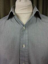 "Polo by Ralph Lauren Philip 100% Cotton Black/White Micro Check Shirt 16"" C42"""