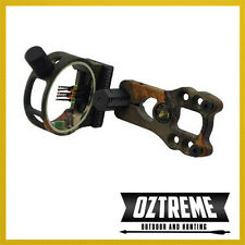 NEW FIBRE OPTIC BOW SIGHT FOR COMPOUND BOW WITH LED LIGHT HUNTING ARCHERY CAMO