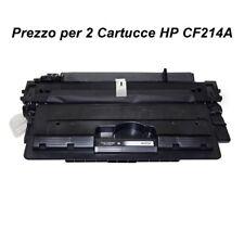 2 X CARTUCCIA PER STAMPANTE HP LASERJET ENTERPRISE 700 M725 MFP TONER CF214A
