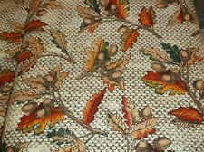 BTY: FALL LEAVES AND ACORNS COTTON FABRIC