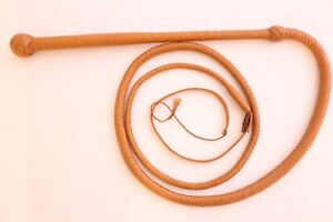 6 Ft Stock whip, 12 Plaited Genuine Leather, Unique Style Heavy Duty Stockwhip
