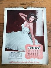 More details for greetings from the stars ! 1957 calendar ! ( great images of film stars )
