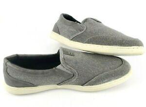 RedHead Gray Canvas Dunham Moc Memory Foam Slip-On Shoes Men's Size US 11M