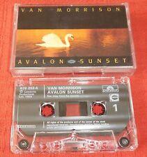 VAN MORRISON - UK CHROME CASSETTE TAPE - AVALON SUNSET