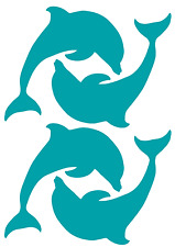 Dolphin Stickers Decals Transfers 1,2,4,6,14 Tile, Wall, Window Bathroom Sticky