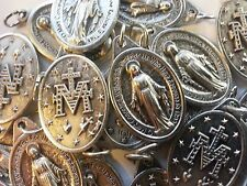Miraculous Medal - 50 qty - SILVER PLATED - Italian Made