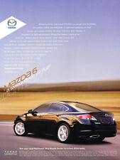 2009 Mazda Mazda6 - Original Car Advertisement Print Ad J177