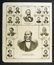 1876 Illinois Various Portraits of Citizens Dr. Hunter