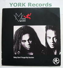 """MILLI VANILLI - Baby Don't Forget My Number - Ex Con 7"""""""
