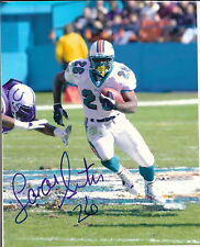 MIAMI DOLPHINS AUTOGRAPHED 8 X 10 COLOR PHOTO LAMAR SMITH  !!!