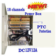 18CH 12V 12Amp DC Distributed Power Box Surveillance Security Camera System xy