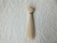 1/3 1/4 1/6  BJD/SD Doll Wig High Temperature Silk Hair Piece Dollfie white 5#