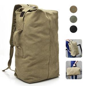 Military Duffle Bag Double Strap Canvas Backpack Army Travel Handbag Satchel
