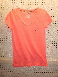 JOE BOXER Jr M Pink Short Sleeve V-Neck  Sleep Tee / T-Shirt  FREE Shpg NWTA