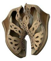 Earthies Biscuit Campora Wedge Sandals Sz 10B
